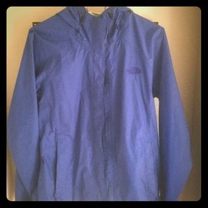 The North Face jacket blue hood, pockets, size L